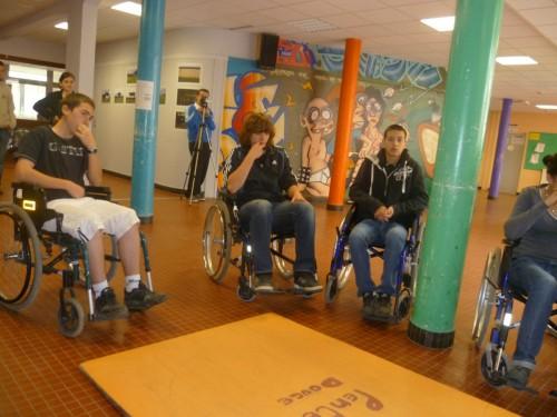 sensibilisation, handicap, granvelle, lycée